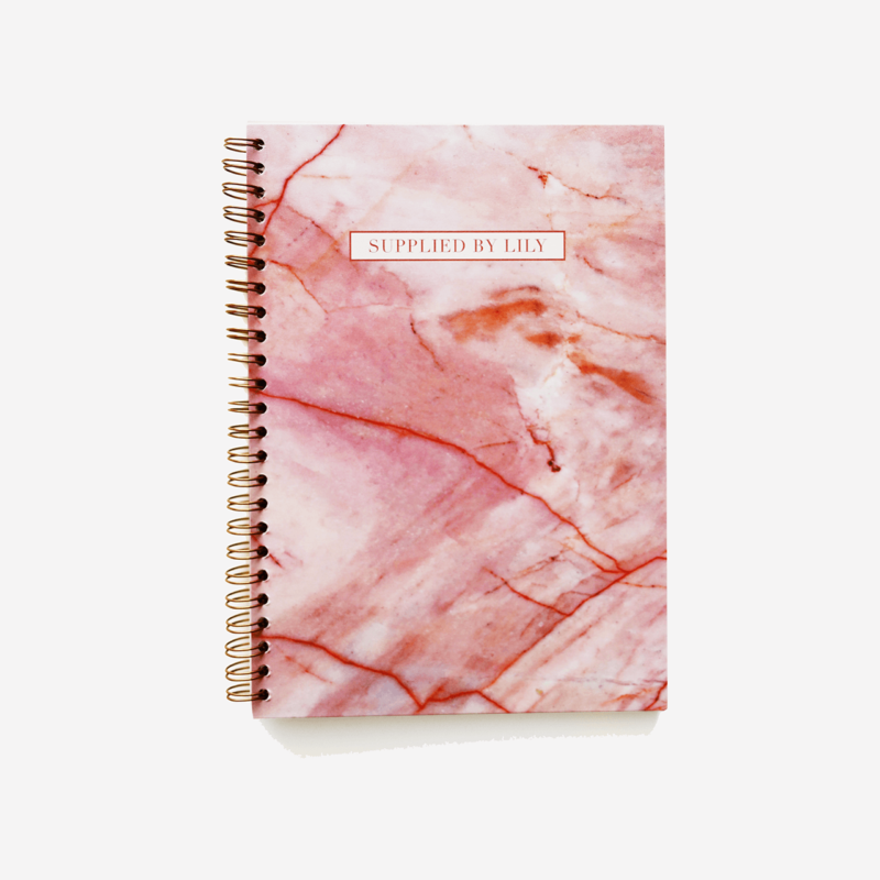 A5 Spiral Notebook in Luxurious Rose Quartz