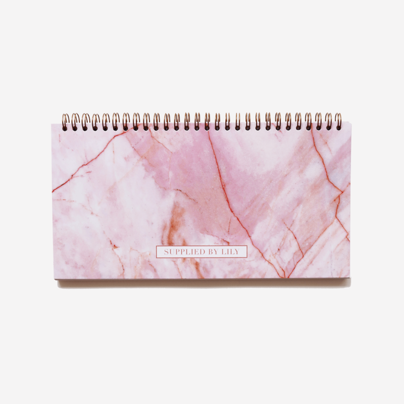 Lifestyle Desk Planner in Luxurious Rose Quartz